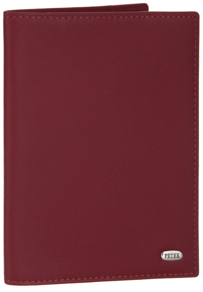 Обложка для паспорта женская Petek 1855, цвет: красный. 581.4000.10581.4000.10 RedСтильная обложка для паспорта Petek 1855 изготовлена из натуральной кожи с гладкой фактурой, оформлена металлической пластиной с символикой бренда. Изделие поставляется в фирменной упаковке с логотипом бренда. Обложка для паспорта поможет сохранить внешний вид ваших документов и защитить их от повреждений, а также станет стильным аксессуаром.