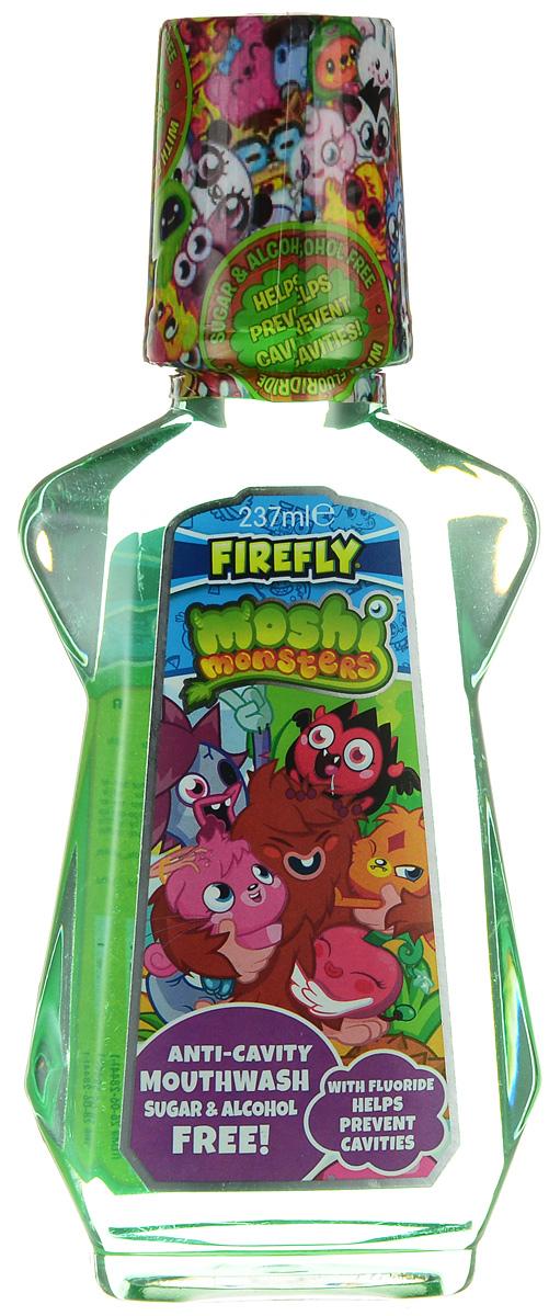 Moshi Monsters Ополаскиватель для полости рта 237 млММ-2Ополаскиватель для полости рта Moshi Monsters с 0,05% флюоридом предназначен для ежедневного использования. Ополаскиватель со вкусом Bubble Gum оказывает профилактическое противокариесное действие, замедляет образование зубного камня, предупреждает возникновение пародонтита и освежает дыхание. Не содержит спирт и сахар. Для детей от 6 лет.