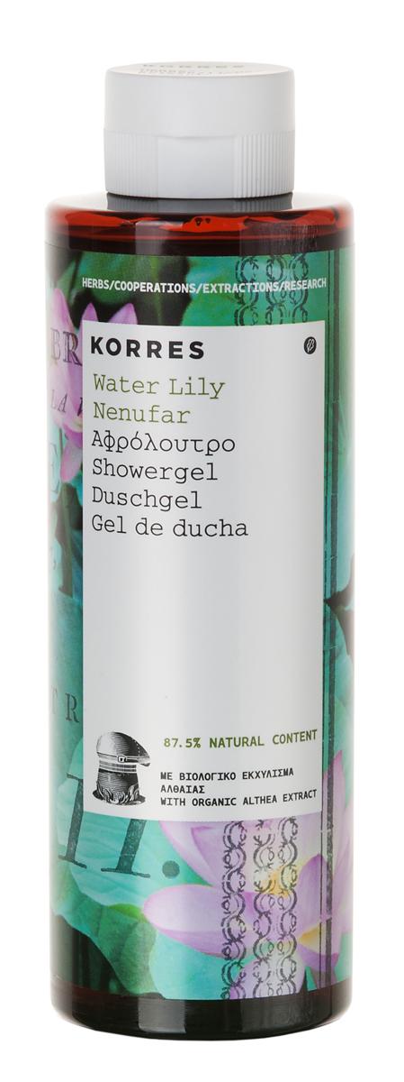 Korres Гель для душа Водяная лилия, 250 мл5203069051739Увлажняющий гель для душа идеален для ежедневного использования. В основе формулы протеины пшеницы, которые образуют на коже защитную пленку, поддерживающую нормальный уровень увлажнения.