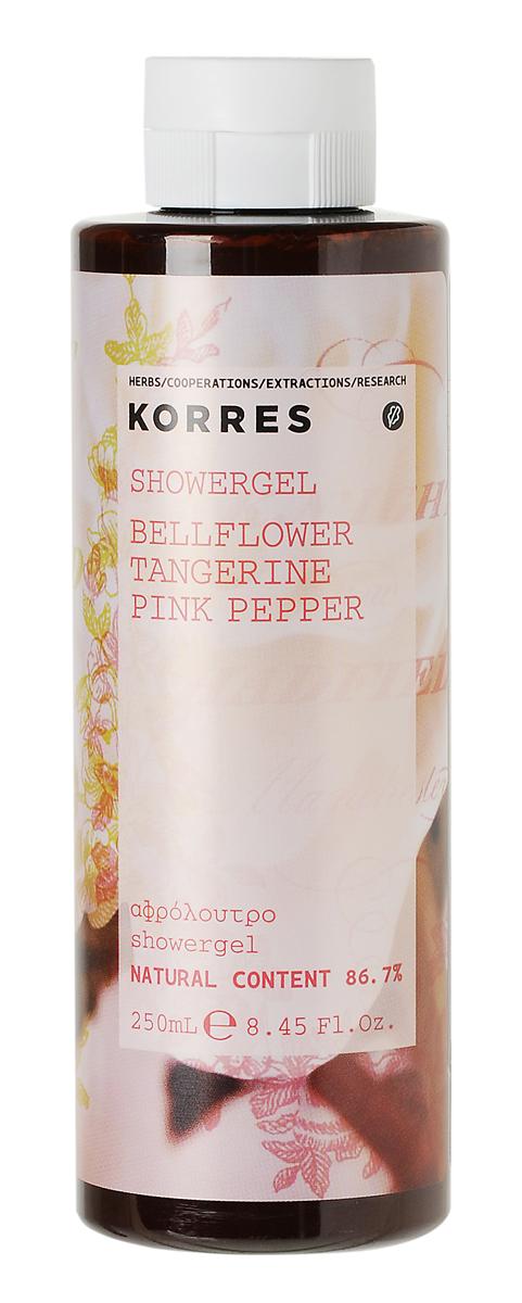 Korres Гель для душа Колокольчик, мандарин, розовый перец, 250 мл5203069057540Увлажняющий парфюмированный гель для душа идеален для ежедневного использования. В основе формулы протеины пшеницы, которые образуют на коже защитную пленку, поддерживающую нормальный уровень увлажнения.