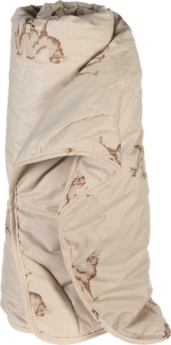 Одеяло легкое Легкие сны Верби, наполнитель: верблюжья шерсть, 172 х 205 см172(30)02-ВШОЛегкое двуспальное одеяло Легкие сны Верби поможет расслабиться, снимет усталость и подарит вам спокойный и здоровый сон. Верблюжья шерсть, благодаря особенностям структуры волокон, обладает высокой гигроскопичностью и дает сухое тепло, полезное людям с заболеваниями опорно-двигательного аппарата. Содержащийся в ней ланолин обладает антибактериальными и антистатическими свойствами. Поэтому одеяла из верблюжьей шерсти не накапливают пыль и не вызывают аллергии. Они очень теплые и практичные. Чехол одеяла выполнен из прочного тика с изображением верблюдов. Это натуральная хлопчатобумажная ткань, отличающаяся высокой плотностью, она устойчива к проколам и разрывам, а также отличается долговечностью в использовании. Легкое одеяло Верби идеально подойдет для прохладных весенних и летних ночей. Небольшая толщина одеяла, чехол из натуральной хлопковой ткани обеспечивают хорошую циркуляцию воздуха, позволяя коже дышать и не допуская перегрева. Одеяло...