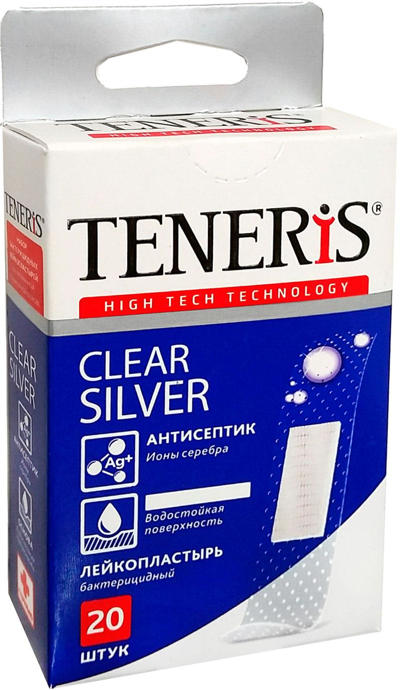 Набор лейкопластырей Тенерис Клиа Силвер бактерицидных: 20 шт, 76 мм х 19 мм54027Лейкопластырь бактерицидный на тканевой основе. Супер-эластичный. Дышащий. Не стесняет движения. Антисептик - ионы серебра. Антитравматическое покрытие раневой подушечки. 20 шт. в упаковке