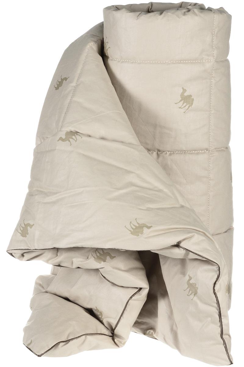 Одеяло теплое Легкие сны Верби, наполнитель: верблюжья шерсть, 172 x 205 см172(30)02-ВШТеплое одеяло Легкие сны Верби поможет расслабиться, снимет усталость и подарит вам спокойный и здоровый сон. Верблюжья шерсть является прекрасным изолятором и широко используется как наполнитель для постельных принадлежностей. Одеяла из нее отличаются хорошей воздухопроницаемостью и способностью быстро поглощать излишнюю влагу. Они позволяют коже дышать, поддерживают постоянную температуру тела, обеспечивая здоровый и комфортный сон. Кассетное распределение наполнителя способствует сохранению формы и воздушности изделия. Чехол одеяла выполнен из прочного тика (100% хлопок) с рисунком в виде верблюдов. Это натуральная хлопчатобумажная ткань, отличающаяся высокой плотностью, она устойчива к проколам и разрывам, а также отличается долговечностью в использовании. По краю одеяла выполнена отделка атласным кантом коричневого цвета. Под нежным, мягким и теплым одеялом вам приснятся только сказочные сны. Рекомендуется химчистка.