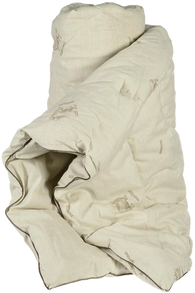 Одеяло теплое Легкие сны, наполнитель: овечья шерсть, 172 х 205 см172(32)04-ОШТеплое одеяло Легкие сны с наполнителем из шерсти овцы обеспечивает сухое тепло за счет природной особенности материала. Волокна в нем не прямые, а состоят из завитков, которые способствуют удержанию воздуха, делая изделие пышным, мягким и легким. Чехол одеяла изготовлен из натурального хлопка. Дышащие свойства шерсти позволяют использовать изделие даже людям, страдающим аллергией. Теплое одеяло Легкие сны благотворно влияет на суставы, снимает нервное напряжение. Оно идеально подойдет тем, кто ценит мягкость и комфорт. Одеяло простегано и окантовано. Стежка надежно удерживает наполнитель внутри и не позволяет ему скатываться. Материал чехла: 100% хлопок. Наполнитель: овечья шерсть. Плотность наполнителя: 300 г/м2. Размер изделия: 172 х 205 см.