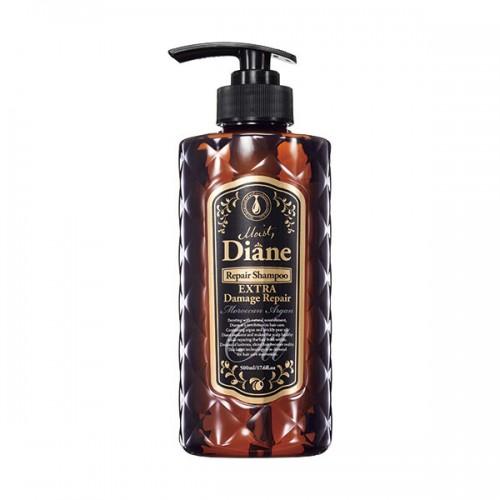 Moist Diane Repair Shampoo Extra Damage Repair GL Глубокое восстановление поврежденных волос, 500 млds01Восстанавливает поврежденную структуру, увлажняет волосы изнутри и покрывает поверхность волоса тонкой пленкой, запечатывая питательные и увлажняющие ингредиенты внутри. Ухаживает за окрашенными волосами и придает волосам шелковистый блеск. Шампунь имеет аромат лесных ягод.Рекомендуется использовать в комплексе с бальзамом для волос той же линии.