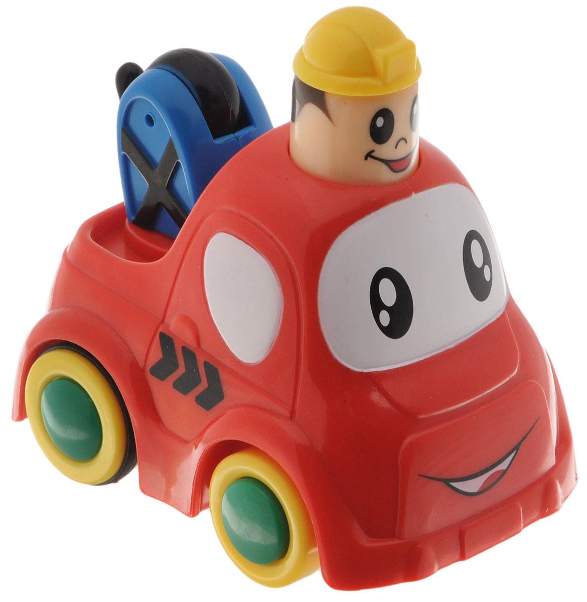Simba Инерционная Мини-машинка с краном цвет красный4019516_красныйМини-машинка с краном Simba привлечет внимание вашего ребенка и надолго останется его любимой игрушкой. Плавные формы без острых углов, яркие цвета - все это выгодно выделяет эту игрушку из ряда подобных. Кузов дополнен подвижным краном. Игрушка оснащена инерционным ходом. Необходимо нажать на голову водителя и отпустить - и машинка быстро поедет вперед. Машинка развивает концентрацию внимания, координацию движений, мелкую моторику рук, цветовое восприятие и воображение. Малыш будет часами играть с этой машинкой, придумывая разные истории.