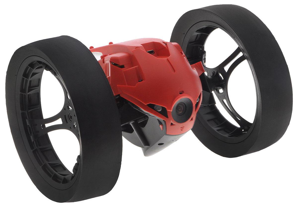 Parrot Вездеход на радиоуправлении Max Jumping Race DronePF724301Вездеход на радиоуправлении Parrot Max Jumping Race Drone оснащен мощным электромотором, который способен недолгое время работать в режиме повышенной производительности. Благодаря этому устройство способно ускоряться до 13 км/ч, что соответствует скорости бега человека. Широкие колеса с мягкими резиновыми накладками обеспечивают превосходную устойчивость и проходимость гаджета. Даже крупные предметы и лестничные пролеты не будут препятствием для движения робота. Встроенный пружинный механизм позволяет ему подпрыгивать на высоту до 75 см. Управление вездеходом осуществляется с помощью приложения FreeFlight 3.0 на вашем смартфоне. Камера, установленная в передней части робота, передает изображение на смартфон в режиме реального времени. За счет этого удается значительно облегчить управление устройством в любой ситуации. Кроме того, пользователь может создавать видеозаписи, чтобы отправить их друзьям или поделиться с подписчиками в социальных сетях....