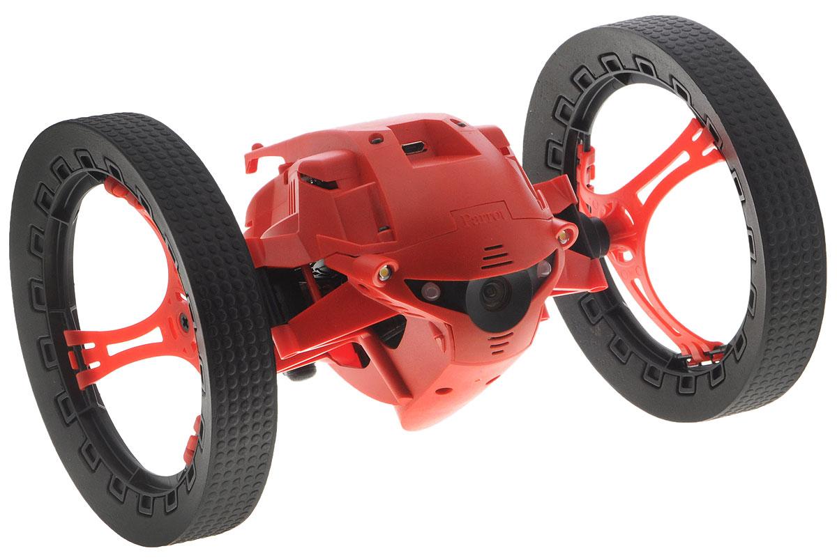 Parrot Вездеход на радиоуправлении Marshall Jumping Night DronePF724102Вездеход на радиоуправлении Parrot Marshall Jumping Night Drone оснащен крупными колесами с мягкими резиновыми накладками, которые обеспечивают превосходную проходимость этого игрового гаджета. Благодаря применению мощного электромотора и современной трансмиссии он может разгоняться до 7 км/ч, что сопоставимо со скоростью быстрой ходьбы человека. Даже ступеньки и крупные предметы не станут помехой для робота, поскольку он может подпрыгивать на высоту до 80 сантиметров. Управление устройством осуществляется с помощью приложения FreeFlight 3.0 на вашем смартфоне. Два мощных светодиода обеспечивают эффективную подсветку пространства перед девайсом, позволяя использовать его даже в полной темноте. Вездеход оснащен камерой, которая передает изображение на смартфон в режиме реального времени. Благодаря этому значительно облегчается управление роботом при отсутствии прямой видимости. Кроме того, пользователь может создавать оригинальные видео, чтобы...