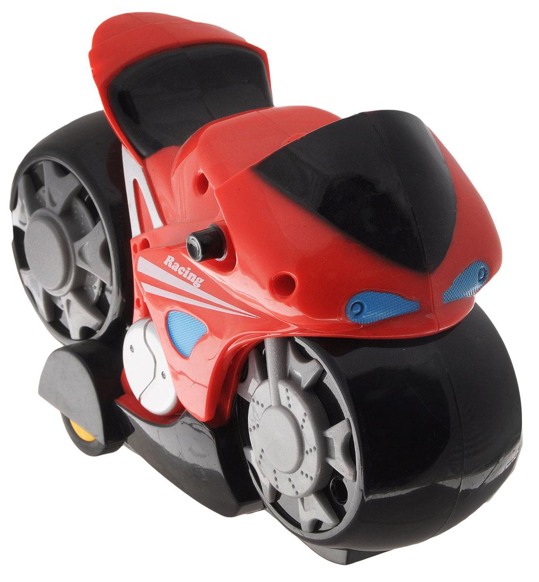 Mioshi Мотоцикл на радиоуправлении Мотокросс цвет красныйMTE1203-004Мотоцикл на радиоуправлении Mioshi Мотокросс - это очень интересная и занимательная игрушка. Выполнена в ярком дизайне из прочных и безопасных материалов. Мотоцикл оснащен подсветкой и звуковыми эффектами. Такая игрушка поможет малышу развить цветовое восприятие, мелкую моторику рук, координацию движений, фантазию и воображение. Мотоцикл разнообразит игровые ситуации и откроет малышу новые сюжеты. Не упустите шанс порадовать своего ребенка замечательным подарком! Для работы мотоцикла необходимо купить 3 батарейки типа АА (не входят в комплект). Для работы пульта управления необходимо купить 2 батарейки типа АА (не входят в комплект).