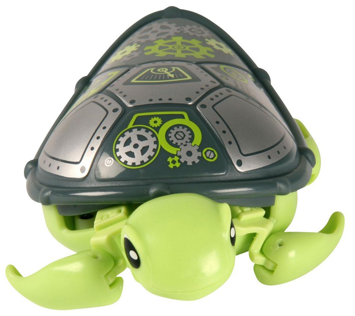 Moose Интерактивная игрушка Черепашка Bolts28199/ast28095(28196,28197,28198,28199)Интерактивная игрушка Moose Черепашка Bolts без сомнения заинтригует детей, которые очень любят животных. Игрушка выполнена из прочных материалов и обладает интересным окрасом. От своих живых собратьев черепашка отличается яркой расцветкой. Голова и ласты выкрашены в зеленый цвет, а ее панцирь украшен разнообразными болтиками и ключиками. На брюшке черепахи находится кнопка для включения - выключения игрушки. Питомец отлично ползает по суше, а так же плавает в воде. При движении черепашка передвигает ластами и шевелит головой словно настоящая. Купание с таким питомцем обязательно вызовет у ребенка неподдельный восторг, даже нелюбимое занятие как мытье головы пройдет незамеченным. Для работы понадобится батарейка типа ААА (в комплект не входит).