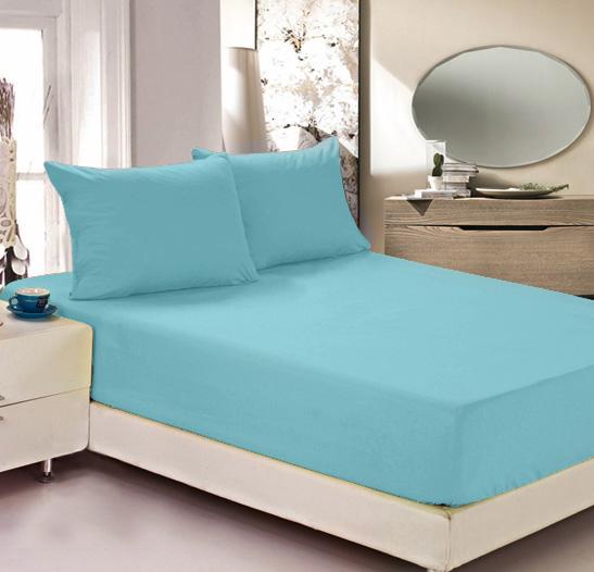 Простыня на резинке Легкие сны Color Way, трикотаж, цвет: бирюзовый, 180 x 200 смЛСПР-180/9Простыня Легкие сны Color Way выполнена из трикотажа. Высочайшее качество материала гарантирует безопасность не только взрослых, но и самых маленьких членов семьи. Изделие прошито резинкой по всему периметру, что обеспечивает более комфортный отдых, так как оно прочно удерживается на матрасе и избавляет от необходимости часто поправлять простыню. Простыня гармонично впишется в интерьер вашей спальни и создаст атмосферу уюта и комфорта. Рекомендации по уходу: Деликатная стирка при температуре воды до 30°С. Отбеливание, химчистка запрещены. Рекомендуется глажка при температуре подошвы утюга до 150°С. Разрешена барабанная сушка.