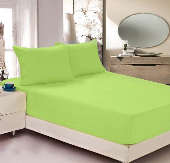 Простыня на резинке Легкие сны Color Way, трикотаж, цвет: салатовый, 200 x 200 смЛСПР-200/7Простыня Легкие сны Color Way выполнена из трикотажа. Высочайшее качество материала гарантирует безопасность не только взрослых, но и самых маленьких членов семьи. Изделие прошито резинкой по всему периметру, что обеспечивает более комфортный отдых, так как оно прочно удерживается на матрасе и избавляет от необходимости часто поправлять простыню. Простыня гармонично впишется в интерьер вашей спальни и создаст атмосферу уюта и комфорта. Рекомендации по уходу: Деликатная стирка при температуре воды до 30°С. Отбеливание, химчистка запрещены. Рекомендуется глажка при температуре подошвы утюга до 150°С. Разрешена барабанная сушка.