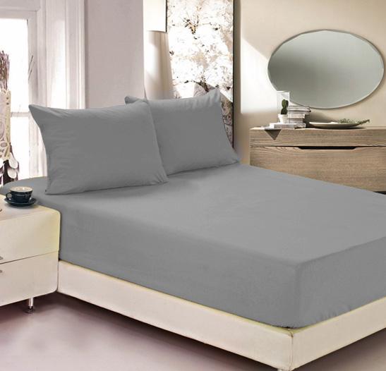Простыня на резинке Легкие сны Color Way, трикотаж, цвет: серый, 140 x 200 смЛСПР-140/4Простыня Легкие сны Color Way выполнена из трикотажа. Высочайшее качество материала гарантирует безопасность не только взрослых, но и самых маленьких членов семьи. Изделие прошито резинкой по всему периметру, что обеспечивает более комфортный отдых, так как оно прочно удерживается на матрасе и избавляет от необходимости часто поправлять простыню. Простыня гармонично впишется в интерьер вашей спальни и создаст атмосферу уюта и комфорта. Рекомендации по уходу: Деликатная стирка при температуре воды до 30°С. Отбеливание, химчистка запрещены. Рекомендуется глажка при температуре подошвы утюга до 150°С. Разрешена барабанная сушка.