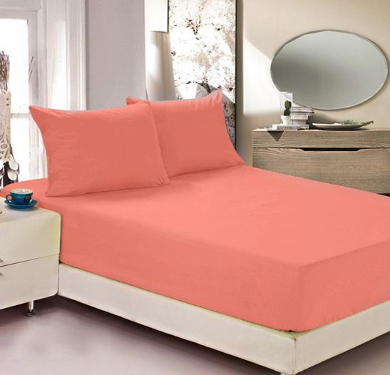 Простыня на резинке Легкие сны Color Way, трикотаж, цвет: коралловый, 200 x 200 смЛСПР-200/12Простыня Легкие сны Color Way выполнена из трикотажа. Высочайшее качество материала гарантирует безопасность не только взрослых, но и самых маленьких членов семьи. Изделие прошито резинкой по всему периметру, что обеспечивает более комфортный отдых, так как оно прочно удерживается на матрасе и избавляет от необходимости часто поправлять простыню. Простыня гармонично впишется в интерьер вашей спальни и создаст атмосферу уюта и комфорта. Рекомендации по уходу: Деликатная стирка при температуре воды до 30°С. Отбеливание, химчистка запрещены. Рекомендуется глажка при температуре подошвы утюга до 150°С. Разрешена барабанная сушка.