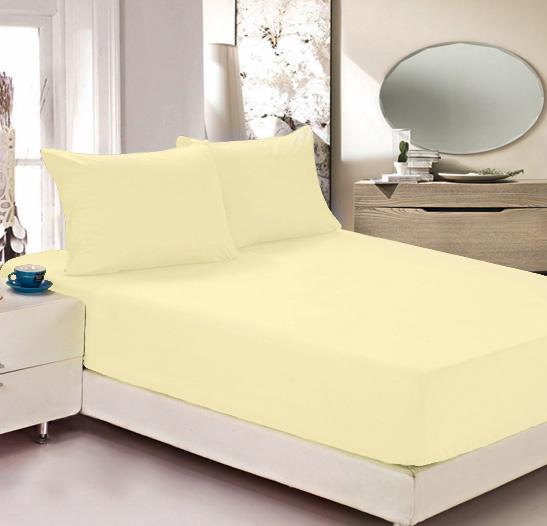 Простыня на резинке Легкие сны Color Way, трикотаж, цвет: желтый, 140 x 200 смЛСПР-140/3Простыня Легкие сны Color Way выполнена из трикотажа. Высочайшее качество материала гарантирует безопасность не только взрослых, но и самых маленьких членов семьи. Изделие прошито резинкой по всему периметру, что обеспечивает более комфортный отдых, так как оно прочно удерживается на матрасе и избавляет от необходимости часто поправлять простыню. Простыня гармонично впишется в интерьер вашей спальни и создаст атмосферу уюта и комфорта. Рекомендации по уходу: Деликатная стирка при температуре воды до 30°С. Отбеливание, химчистка запрещены. Рекомендуется глажка при температуре подошвы утюга до 150°С. Разрешена барабанная сушка.