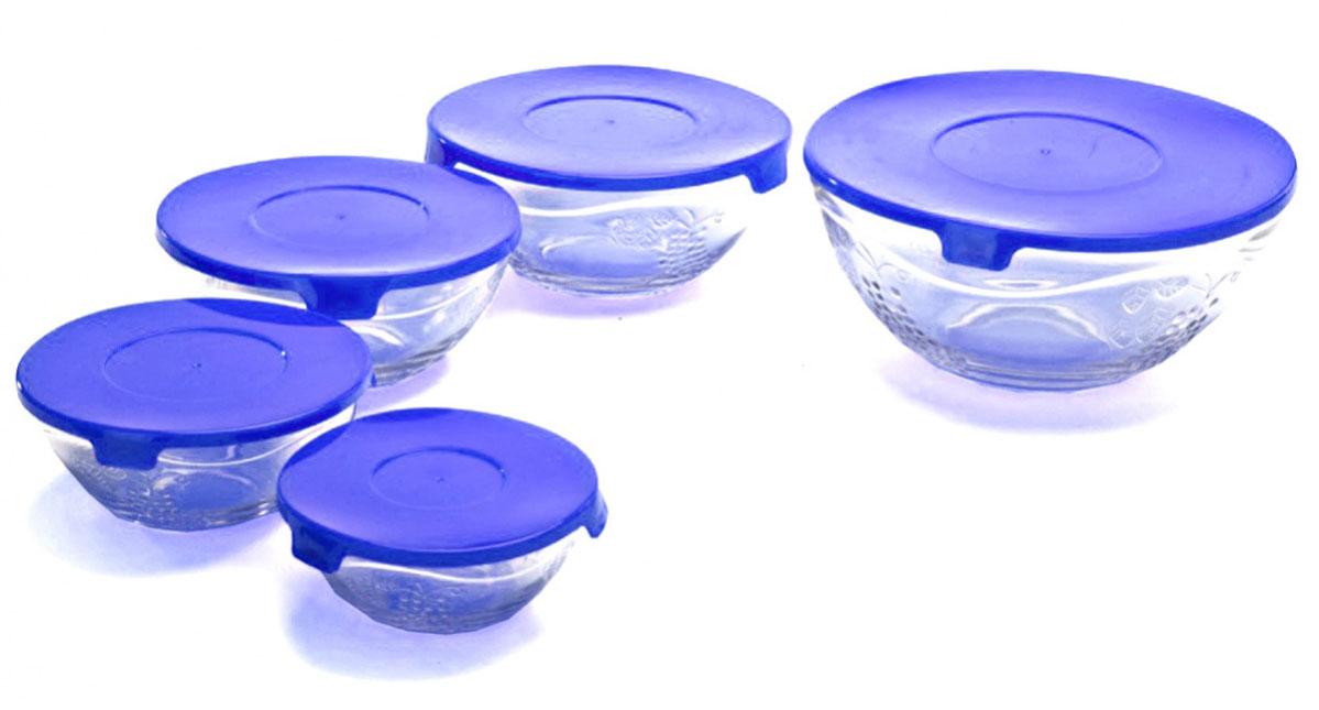 Набор мисок Bradex, с крышками, 5 штTK 0188Разные по объему миски незаменимы на любой кухне! Имея такой набор, Вы сможете готовить и сервировать любые салаты, подавать в них на стол свежие фрукты, а также использовать их для хранения различных продуктов. Каждая миска снабжена крышкой, чтобы приготовленное блюдо или продукты не испортились и не потеряли аппетитный вид во время хранения в холодильнике. Комплектация: 5 мисок. Объем:150мл/200мл/ 350мл/500мл/900мл Материал мисок: жаропрочное стекло, Материал крышек: пластик.