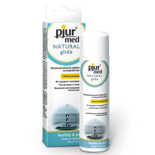 Pjur, Нейтральный лубрикант на водной основе pjurMED Natural glide 100 млMEDNAT-100Лубрикант на водной основе: чистый природный глицерин обеспечивает увлажнение кожи и гарантирует длительный скользящий эффект, заботясь и защищая от сухости нежную кожу, уставшую от стресса. Дерматологически тестирован, подходит для чувствительной кожи. Идеален для ежедневного применения. Мягкое увлажнение. Для сухой или уставшей от стресса кожи.
