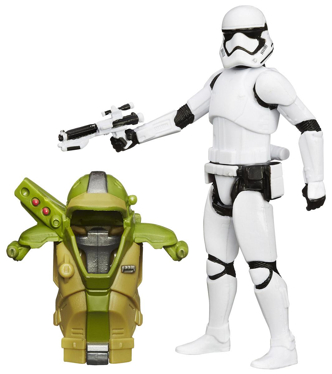 Star Wars Набор фигурок First Order StormtrooperB3886_B3892Набор фигурок Star Wars First Order Stormtrooper состоит из фигурки штурмовика Первого Ордена, боевого костюма и оружия. Конечности фигурки подвижны, голова поворачивается, оружие снимается. Эта фигурка непременно понравится поклоннику Звездных войн и станет замечательным украшением любой коллекции.