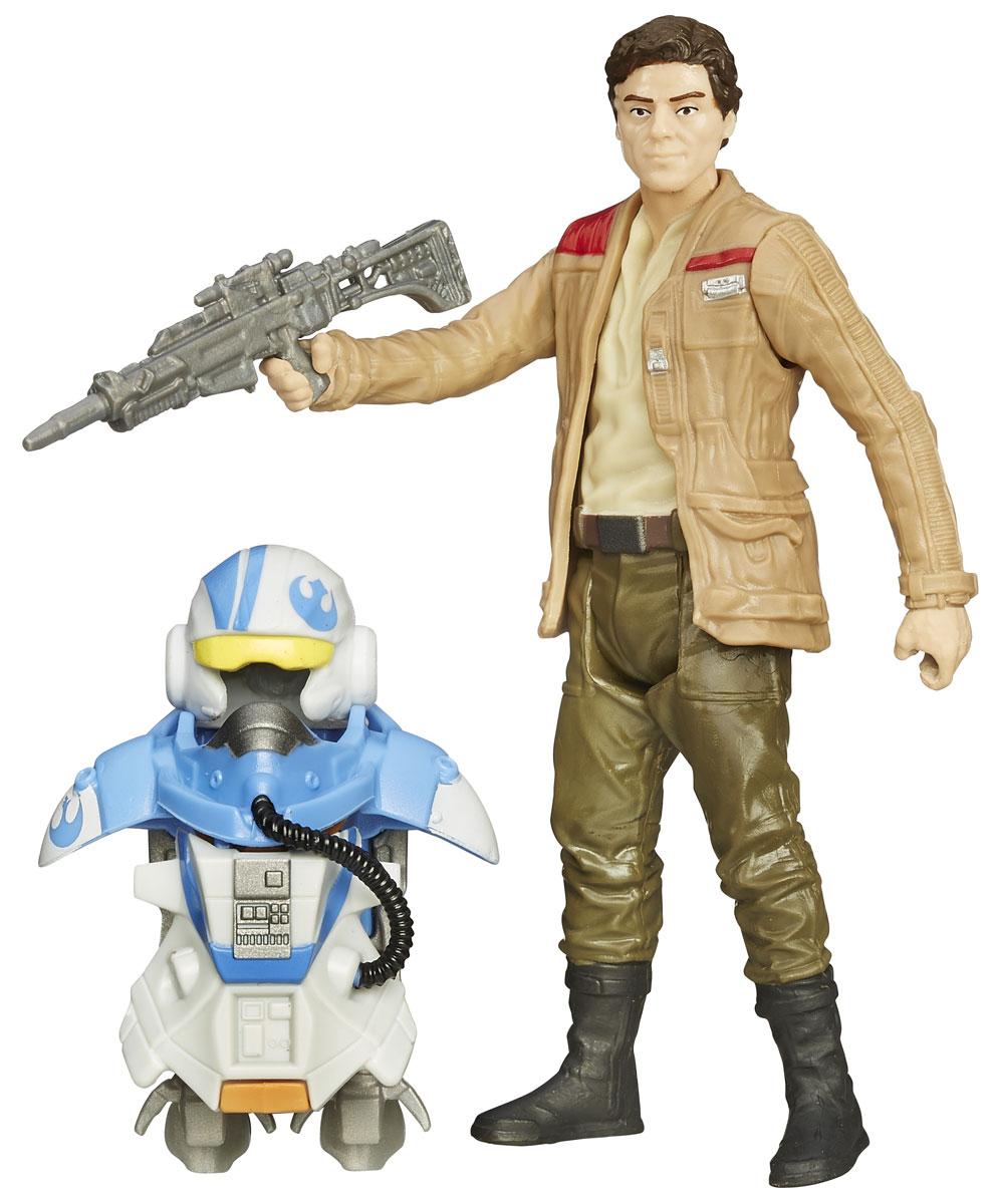 Star Wars Набор фигурок Poe DameronB3886_B3893Набор фигурок Star Wars Poe Dameron состоит из фигурки По Дэмерона, пилота Звёздного корпуса в Новой Республике, реактивного ранца и оружия. Конечности фигурки подвижны, голова поворачивается. Эта фигурка непременно понравится поклоннику Звездных войн и станет замечательным украшением любой коллекции.