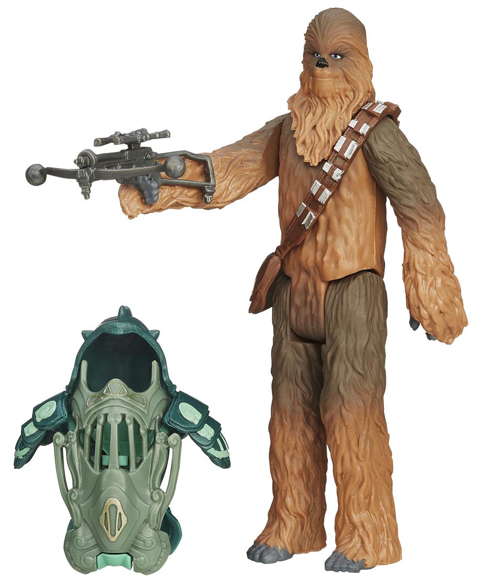 Star Wars Набор фигурок ChewbaccaB3886_B3891Набор фигурок Star Wars Chewbacca состоит из фигурки Чубакки, верного напарника Хана Соло, его боевого костюма, сумки и оружия. Конечности фигурки подвижны, голова поворачивается, оружие и сумка снимаются. Эта фигурка непременно понравится поклоннику Звездных войн и станет замечательным украшением любой коллекции.