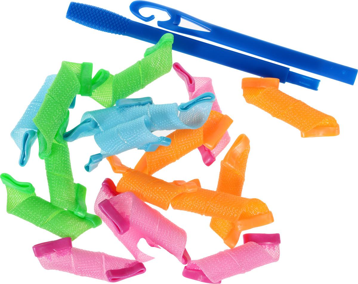 Magic Leverag Бигуди маленькие, цвет: зеленый, голубой, оранжевый, розовый, 15 см, 18 штМ15Набор бигуди Magic Leverag является простым и легким способом всегда выглядеть безупречно стильно! Бигуди предназначены для создания мелких кудряшек, локонов и волн, а также придания дополнительного объема. Бигуди произведены из мягкого материала и в них можно спать. Magic Leverag выполнены из мягкого пластика с силиконовыми наконечниками, что позволяет им служить долго, подходят для кончиков и на длинные волосы, а также на каскадную стрижку. Ваша прическа зависит только от вашей фантазии и настроения! Преимущества волшебных бигуди Magic Leverag: Создают большой объем. Удобны и легки в использовании. Справится даже ребенок! Подходят как для коротких, так и для длинных волос. Позволяют легко контролировать направление и равномерность укладки без заломов. Обеспечивают бережное отношение к волосам. Смена имиджа за час. Процесс накручивания бигуди Magic Leverag никогда не утомит вас. Экономия ...