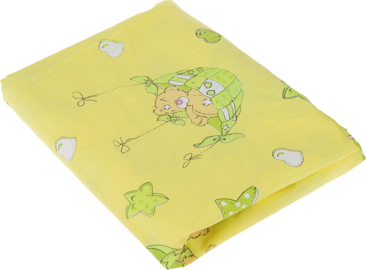 Пододеяльник детский Фея Мишки, цвет: желтый, 110 см х 140 см0001054-3Детский пододеяльник Фея Мишки, идеально подойдет для одеяла вашего малыша. Изготовленный из натурального 100% хлопка, он необычайно мягкий и приятный на ощупь, позволяет коже дышать. Натуральный материал не раздражает даже самую нежную и чувствительную кожу ребенка, обеспечивая ему наибольший комфорт. Приятный рисунок пододеяльника, несомненно, понравится малышу и привлечет его внимание. Под одеялом с таким пододеяльником ваша кроха будет спать здоровым и крепким сном. УВАЖАЕМЫЕ КЛИЕНТЫ! Обращаем ваше внимание на возможные изменения в дизайне, связанные с ассортиментом продукции: рисунок может отличаться от представленного на изображении.
