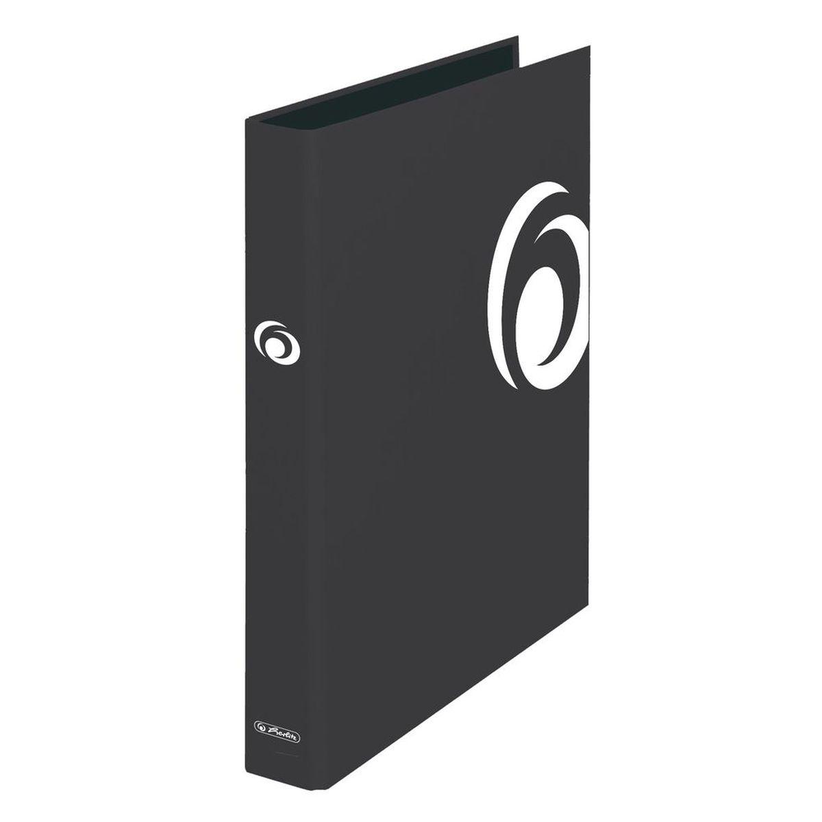 Herlitz Папка с кольцами MaX.file формат A4 цвет черный10935153Папка с кольцами maX.file, формат A4, ширина корешка 2,5 см. Обложка из ламинированного картона с тиснением. Механизм с двумя кольцами, черн