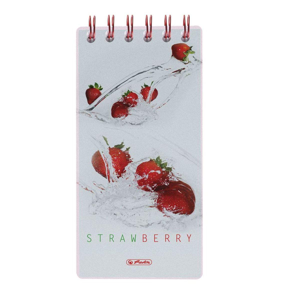 Herlitz Блокнот Fresh Fruit Клубника 100 листов формат 8,5 х 17 11306248
