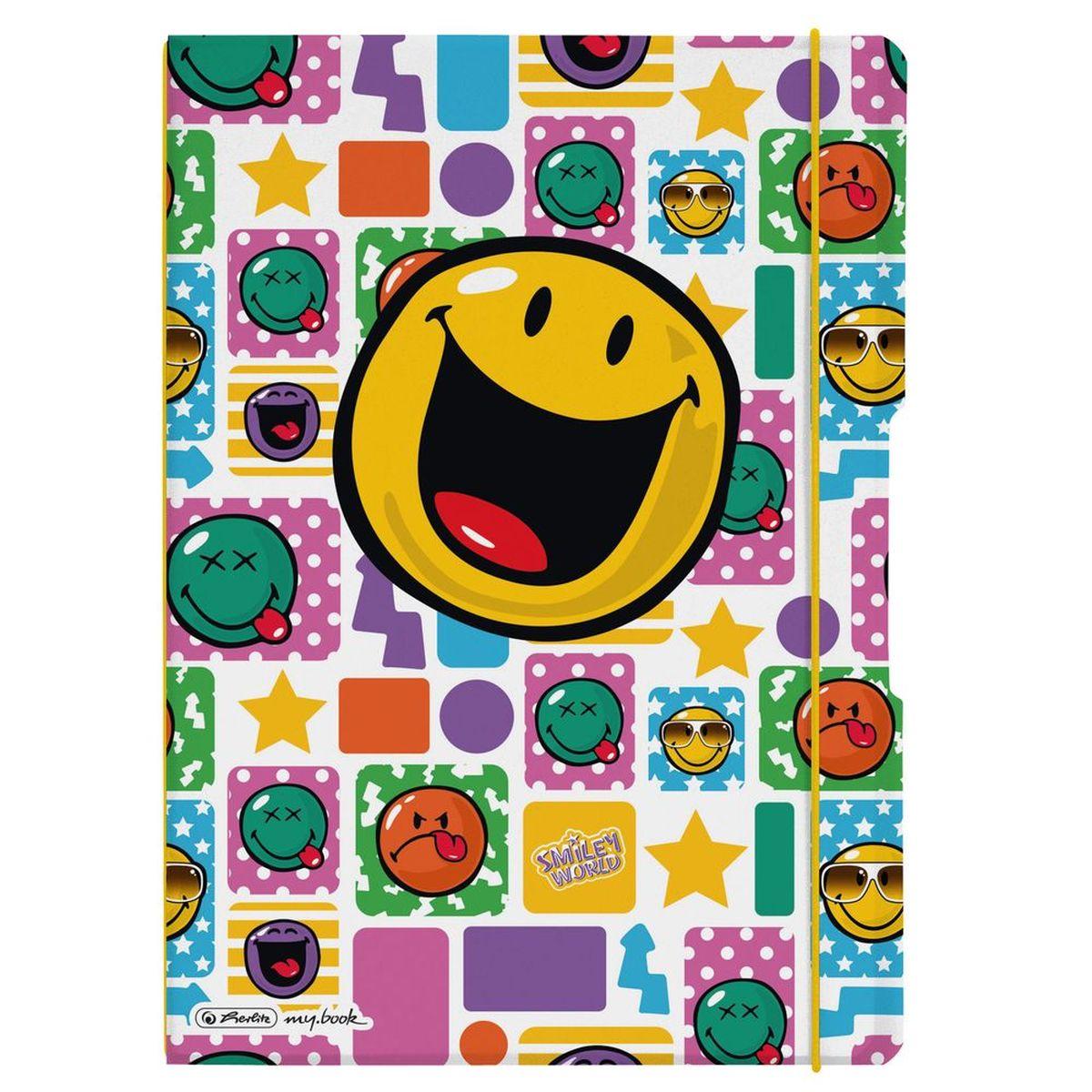 Herlitz Блокнот my.book Flex Smiley Happy 80 листов в клетку/линейку формат А411361672Комбинируемый блокнот от Herlitz my.book Flex Smiley Happy подойдет для любого случая: в университете, в школе, дома или в офисе. Благодаря разным бумажным сменным блокам, а также эластичным резинкам и креплению блокнот my.book всегда остается уникальным и разнообразным. С помощью наборов эластичных резинок вы можете немного менять внешний вид своего блокнота my.book flex каждый день. При желании вы можете просто продолжать использовать свою любимую обложку, потому что с бумажными блоками всегда есть, где писать. Пластиковый блокнот my.book flex завоюет ваше сердце. Пластиковая версия блокнота формата A4 имеет еще одно преимущество: уникальная система 2-в-1. В отличие от обычных блокнотов, эта версия позволяет использовать одновременно бумажные блоки в клетку и в линейку. Утомительная необходимость носить за собой разные блокноты и тетради ушла в прошлое.