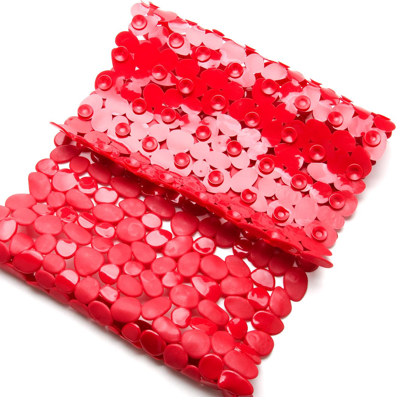 Коврик для ванной комнаты Aqva Line Бордо, цвет: бордовый, 70 х 35 см. 13030511303048Противоскользящий резиновый коврик на присосках имеет множество плюсов: он не деформируется, устойчив к воздействию бытовой химии, плотный, легко моется, в отличие от ПВХ и акрила не впитывает воду и очень быстро высыхает при ее попадании, не скользит по гладкой поверхности, сводя опасность упасть, поскользнувшись, к минимуму. Коврик также незаменим при купании пожилых людей или детей, так как для более безопасного купания его можно положить на дно ванны. Коврик с резиновыми присосками на нижней стороне, особенно удобен, так как эти присоски позволяют надежно зафиксировать коврик на любой гладкой поверхности, будь то кафельная плитка на полу или гладкое покрытие ванны. Специальный массажный эффект, достигающийся за счет его текстуры, подарит ощущение комфорта. Также, у нас вы сможете подобрать к нему шторы для ванной и все необходимые аксессуары, выдержанные в той же цветовой гамме.