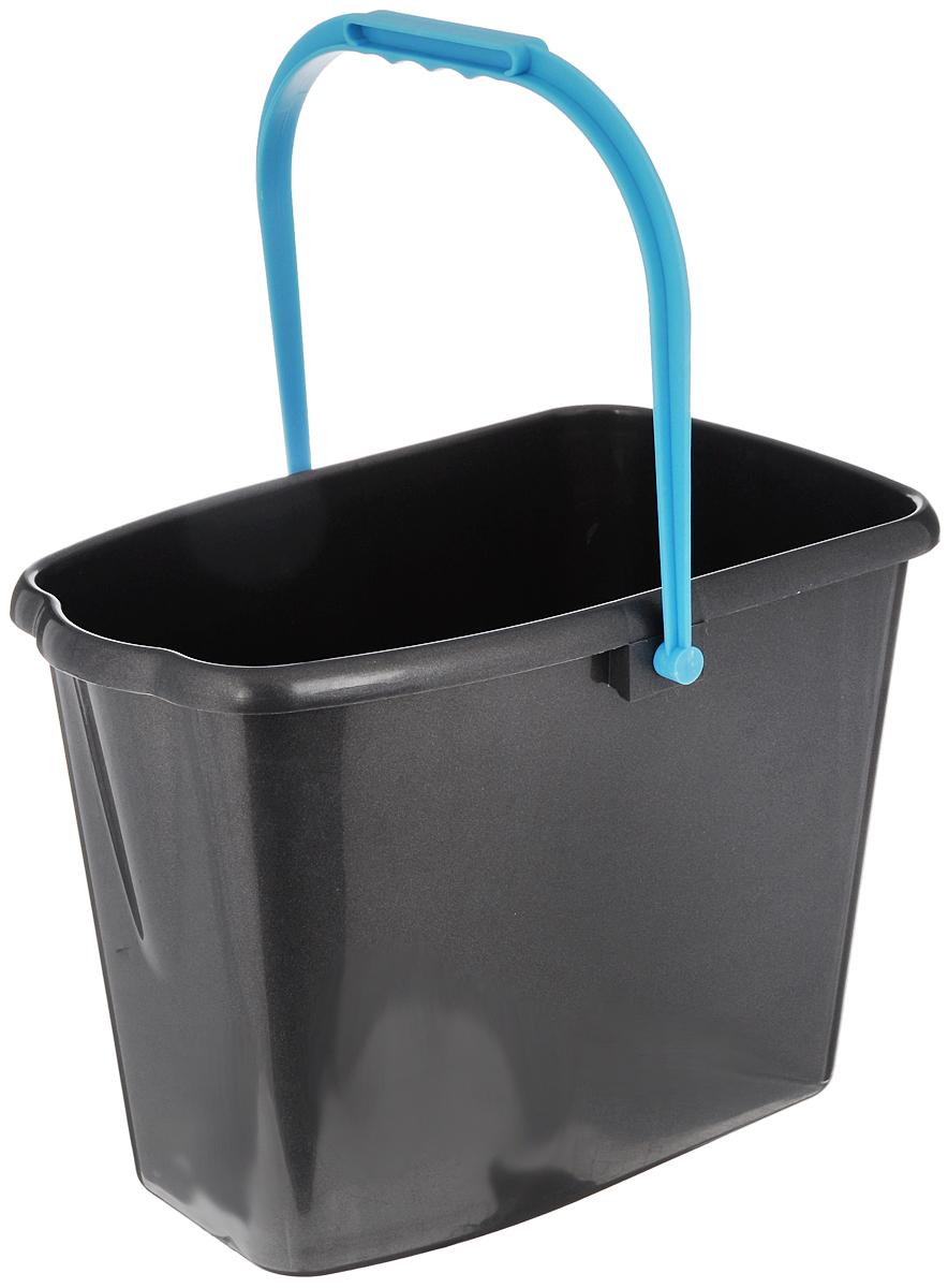 Ведро для уборки Мир чистоты, цвет: серый, голубой, 10 лW004_серый, голубойВедро для уборки Мир чистоты изготовлено из высококачественного пластика и оснащено удобной ручкой. Оно легче железного и не подвержено коррозии. Такое ведро станет незаменимым помощником в хозяйстве. Размер ведра (по верхнему краю): 32 х 18 см. Высота стенок: 23,5 см.