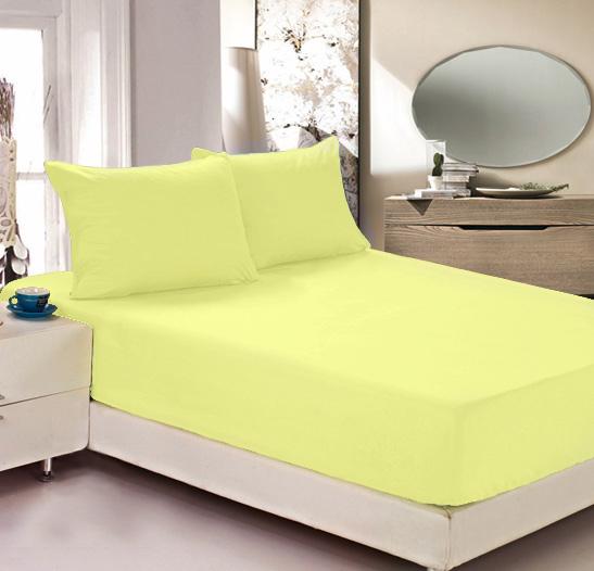 Простыня на резинке Легкие сны Color Way, трикотаж, цвет: желтый, 180 x 200 смЛСПР-180/3Простыня Легкие сны Color Way выполнена из трикотажа. Высочайшее качество материала гарантирует безопасность не только взрослых, но и самых маленьких членов семьи. Изделие прошито резинкой по всему периметру, что обеспечивает более комфортный отдых, так как оно прочно удерживается на матрасе и избавляет от необходимости часто поправлять простыню. Простыня гармонично впишется в интерьер вашей спальни и создаст атмосферу уюта и комфорта. Рекомендации по уходу: Деликатная стирка при температуре воды до 30°С. Отбеливание, химчистка запрещены. Рекомендуется глажка при температуре подошвы утюга до 150°С. Разрешена барабанная сушка.