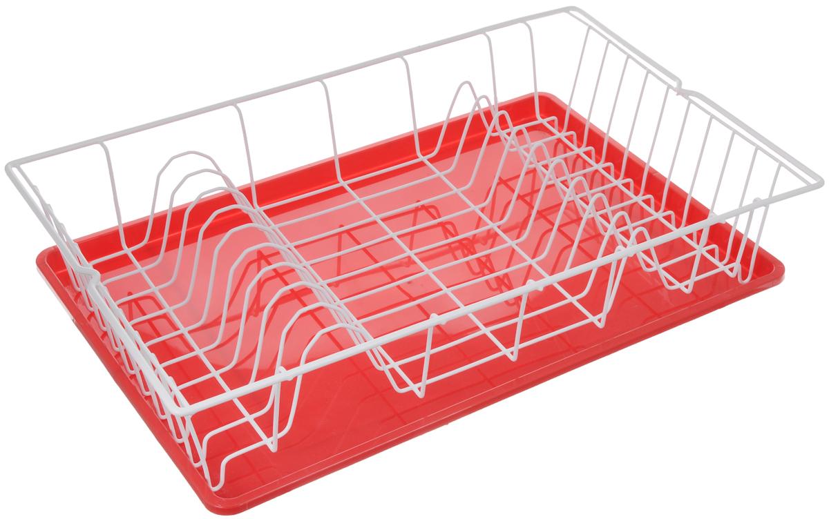 Сушилка для посуды Metaltex Germatex Plus, с поддоном, цвет: красный, белый, 48 х 30 х 9,5 см32.01.45/94-528_красныйСушилка Metaltex Germatex Plus, изготовленная из стали, представляет собой решетку с ячейками для посуды. Изделие оснащено пластиковым поддоном для стекания воды. Сушилка Metaltex Germatex Plus не займет много места на вашей кухне. Вы сможете разместить на ней большое количество предметов. Компактные размеры и оригинальный дизайн выделяют эту сушилку из ряда подобных. Размер сушилки: 48 х 30 х 9,5 см. Размер поддона: 45 х 31 х 2 см.