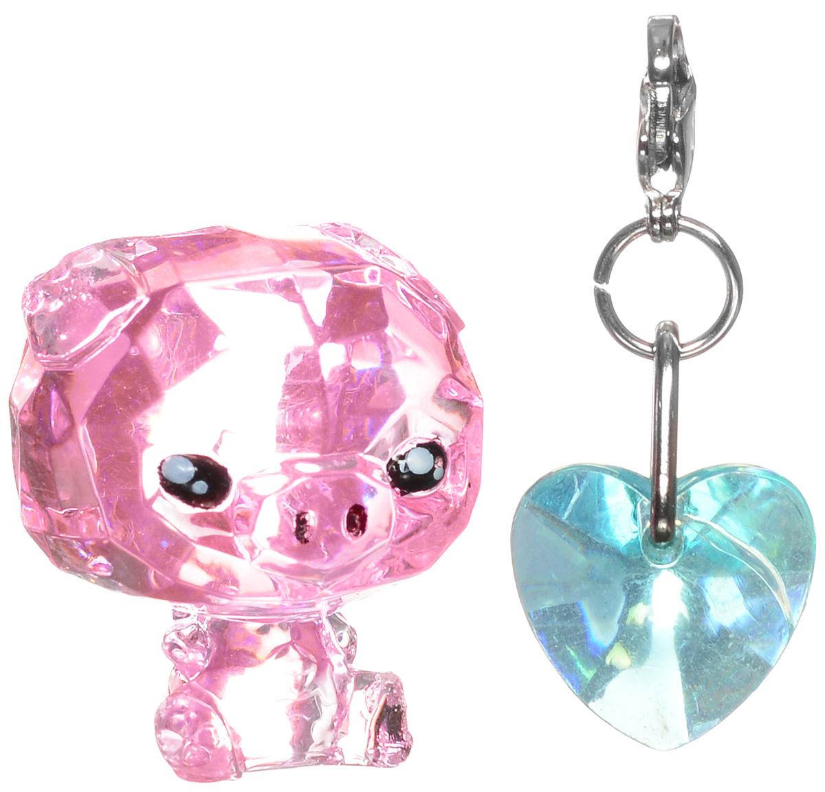 Crystal Surprise Фигурка Поросенок Zing цвет розовый45702_розовыйСамые искристые, самые сияющие малютки-зверюшки собрались здесь, чтобы принести вам удачу! Когда на небе встает солнце вдогонку тающей луне, появляются зверьки Crystal Surprise. Возьмите их в руку - и почувствуете, как они приносят удачу. У каждого зверька Crystal Surprise есть свое предназначение, каждый из них станет вашим талисманом. Носите, дарите их. Соберите их всех, чтобы умножить их магические способности! Предназначение фигурки Crystal Surprise Поросенок Zing - везение. Фигурка искрится и сияет - вам удачу прибавляет! Носите поросенка везде с собой - это ваш талисман удачи! В набор также входит подвеска на удачу!
