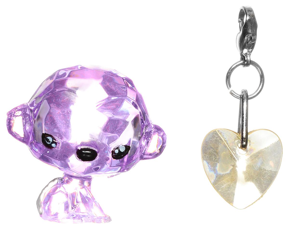 Crystal Surprise Фигурка Обезьянка Dazzly цвет фиолетовый45703Самые искристые, самые сияющие малютки-зверюшки собрались здесь, чтобы принести вам удачу! Когда на небе встает солнце вдогонку тающей луне, появляются зверьки Crystal Surprise. Возьмите их в руку - и почувствуете, как они приносят удачу. У каждого зверька Crystal Surprise есть свое предназначение, каждый из них станет вашим талисманом. Носите, дарите их. Соберите их всех, чтобы умножить их магические способности! Предназначение фигурки Crystal Surprise Обезьянка Dazzly - приносить радость. Фигурка приносит смех и всегда ярко сияет! Улыбка и юмор обезьянки согреют ваш день! С ней улыбки, радость, смех, Dazzly принесет с собой успех! В набор также входит подвеска на удачу!