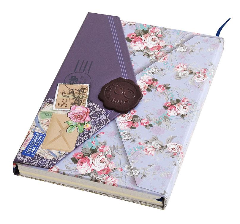 Личный дневник для записей Белоснежка Тайны. 661-SB661-SBДневник для записей выполнен в виде ретро-конверта с магнитной застежкой и закладкой. Плотную обложку украшает стилизованная антикварная печать из сургуча. На однотонных листочках дневника нанесен принт в виде точек, клеточек или разлиновка. Количество листов: 96 Размер 105 х 152 х 18 мм