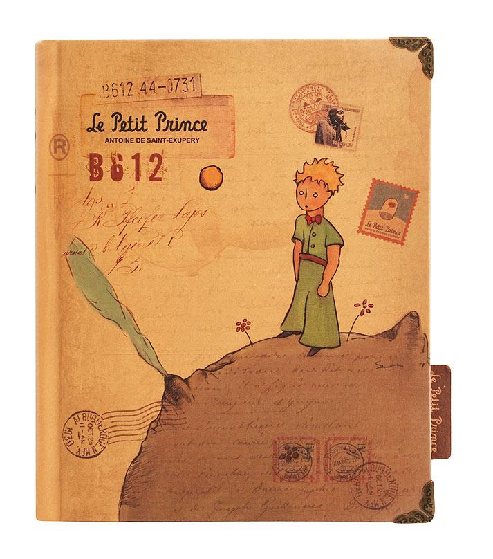 """Ежедневник Белоснежка Принц на астероиде. 675-SB675-SBСерия ежедневников для записей """"Маленький принц"""" выполнена в популярном стиле Винтаж. Тематическая крафт обложка, изготовлена из качественного плотного картона. Края переплета украшены бронзовыми защитными уголками с винтажным узором. Листы ежедневника имеют стильные, не повторяющиеся дизайны на разной по фактуре и цвету бумаге. Количество листов: 96 Размер 125 x 162 x 20 мм"""