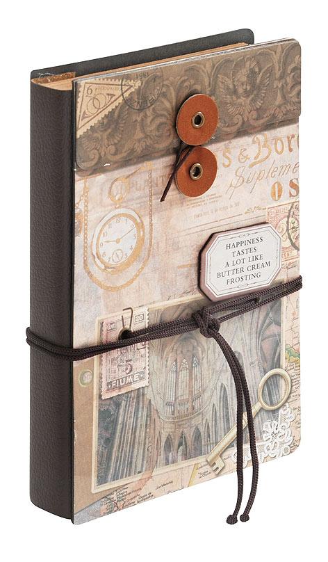 Блокнот для записей Белоснежка Мечты. 683-SB683-SBДневник для записей в стиле Винтаж имеет плотную обложку с объемной композицией. Удобная завязка помогает держать дневник закрытым и придает ему дополнительный шарм. Завязку можно использовать в качестве закладки. Компактный размер дневника позволяет носить его с собой в сумочке. Листы изготовлены из плотной крафт бумаги с винтажными картинками. Количество листов: 96 Размер 115 х 172 х 25 мм.