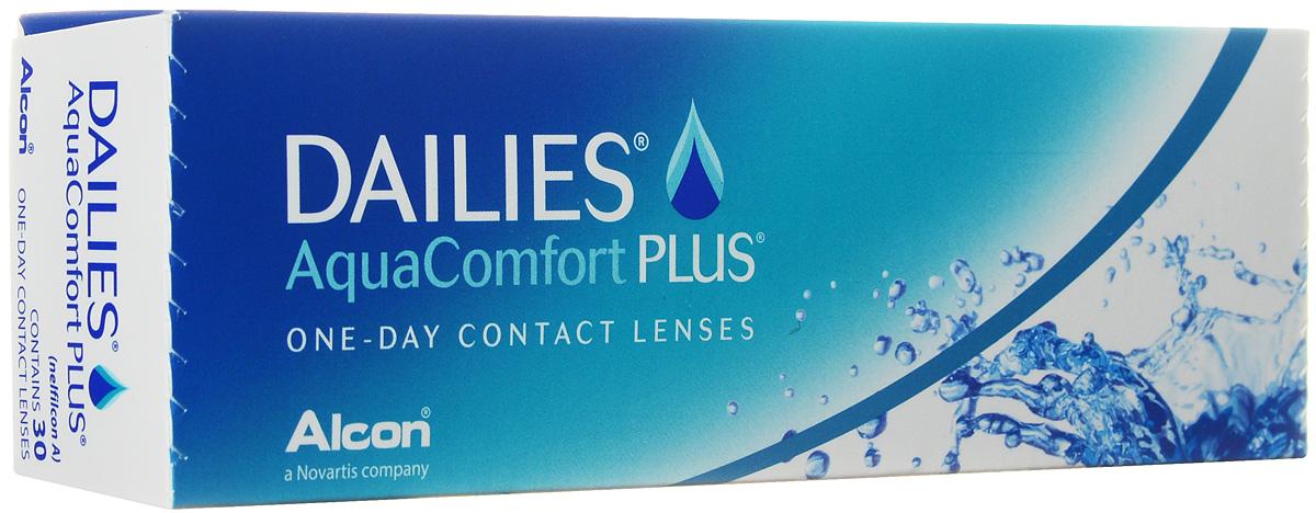 CIBA контактные линзы Dailies AquaComfort Plus (30шт / 8.7 / 14.0 / -3.50)38451Dailies AquaComfort Plus - это одни из самых популярных однодневных линз производства компании Ciba Vision. Эти линзы пользуются огромной популярностью во всем мире и являются на сегодняшний день самыми безопасными контактными линзами. Изготавливаются линзы из современного, 100% безопасного материала нелфилкон А. Особенность этого материала в том, что он легко пропускает воздух и хорошо сохраняет влагу. Однодневные контактные линзы Dailies AquaComfort Plus не нуждаются в дополнительном уходе и затратах, каждый день вы надеваете свежую пару линз. Дизайн линзы биосовместимый, что гарантирует безупречный комфорт. Самое главное достоинство Dailies AquaComfort Plus - это их уникальная система увлажнения. Благодаря этой разработке линзы увлажняются тремя различными агентами. Первый компонент, ухаживающий за линзами, находится в растворе, он как бы обволакивает линзу, обеспечивая чрезвычайно комфортное надевание. Второй агент выделяется на протяжении всего дня, он...