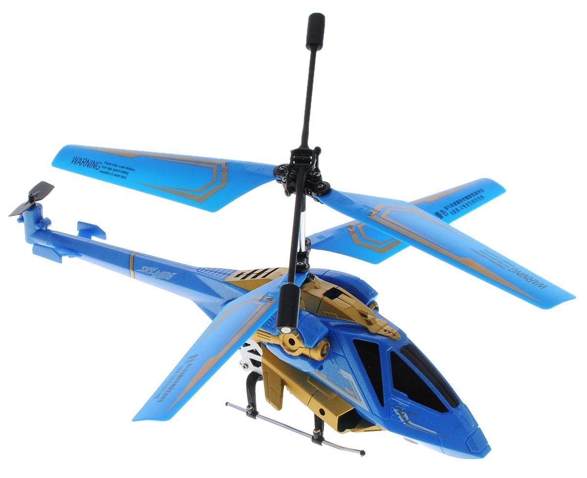 Auldey Вертолет на инфракрасном управлении Sky-Wing1169955Вертолет на инфракрасном управлении Auldey Sky-Wing c трехканальным управлением и встроенным гироскопом отлично подходит для полетов в закрытых помещениях и на улице в безветренную погоду. Гироскоп предназначен для курсовой стабилизации полета. Игрушка выполнена из прочных полимерных материалов и имеет два основных винта и один хвостовой. Вертолет стабилен в воздухе и легко управляется. Движения вертолета: вверх-вниз, поворот налево, поворот направо, вперед-назад, стоп. Высота полета - 8 метров, радиус управления - более 12 метров, время полета - более 6 минут. Эта увлекательная игрушка понравится не только детям, но и взрослым, и подарит вам множество счастливых мгновений. Вертолет работает от встроенного аккумулятора, который можно заряжать от USB-шнура (входит в комплект). Для работы пульта управления необходимо купить 6 батареек типа АА (в комплект не входят).