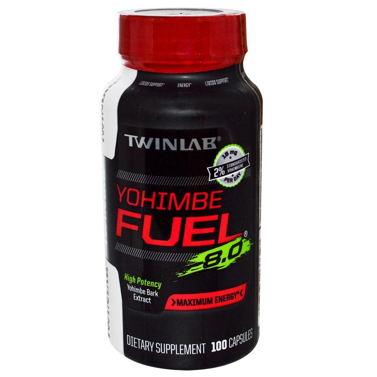 Средства для повышения тестостерона Twinlab YOHIMBE FUEL, 100 капсул ( 0027434037327 )