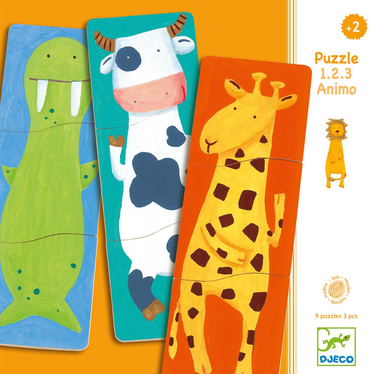 Djeco Пазл для малышей Забавные животные01551Пазл для малышей Djeco Забавные животные - первый пазл вашего малыша! Собирая зверей, ребенок будет развивать мелкую моторику, логическое мышление и внимание. В комплект входят 9 пазлов с изображениями различных животных. Каждый пазл состоит из трех элементов, задача малыша - сложить части в правильном порядке. Все детали выполнены в ярких красочных цветах, животные изображены в неповторимом стиле Djeco.