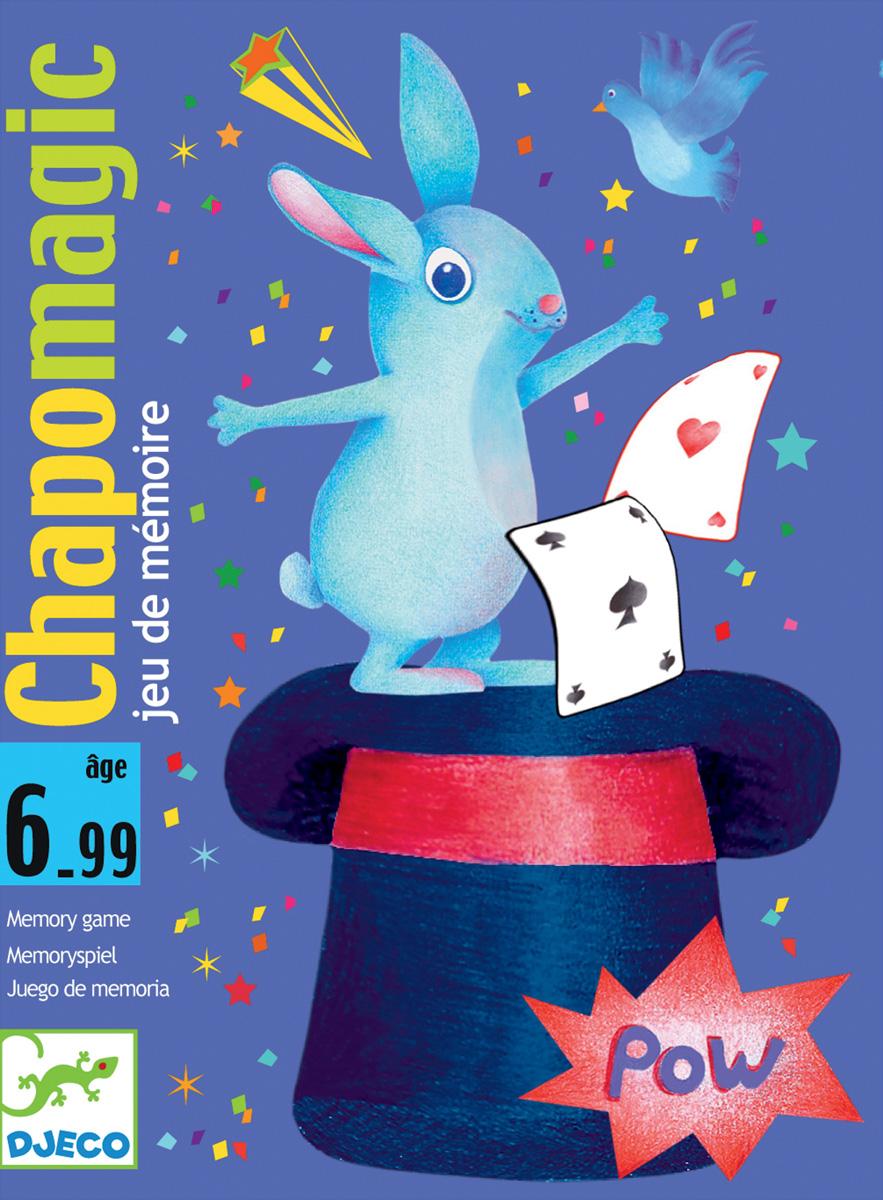 Djeco Настольная карточная игра Шляпа волшебника05133Детская карточная игра Шляпа волшебника от французского производителя Djeco - увлекательная игры для детей и взрослых на скорость и сообразительность. Целью игры является запомнить карточки. Правила игры Шляпа волшебника: Игрокам раздаётся по 3 карточки, которые они просматривают и кладут лицевой стороной вниз. Затем каждый игрок по очереди должен назвать цвет карточки, лежащей сверху. Если цвет назван правильно, игрок имеет право забрать карточку себе. Если же нет, то он кладет ее в общую колоду. Запас карт у игроков постоянно пополняется - они берутся из общей колоды и кладутся в низ стопки. На некоторых картах содержится изображение шляпы волшебника: если игроку попадается такая карта, то все участники должны стукнуть ладонью по центру стола. Тот, кто сделал это последним, в качестве штрафа отдает одну из выигранных карточек. То же происходит, если кто-то ударил ладонью по столу по ошибке (на карте не было изображения шляпы волшебника). Также, для...