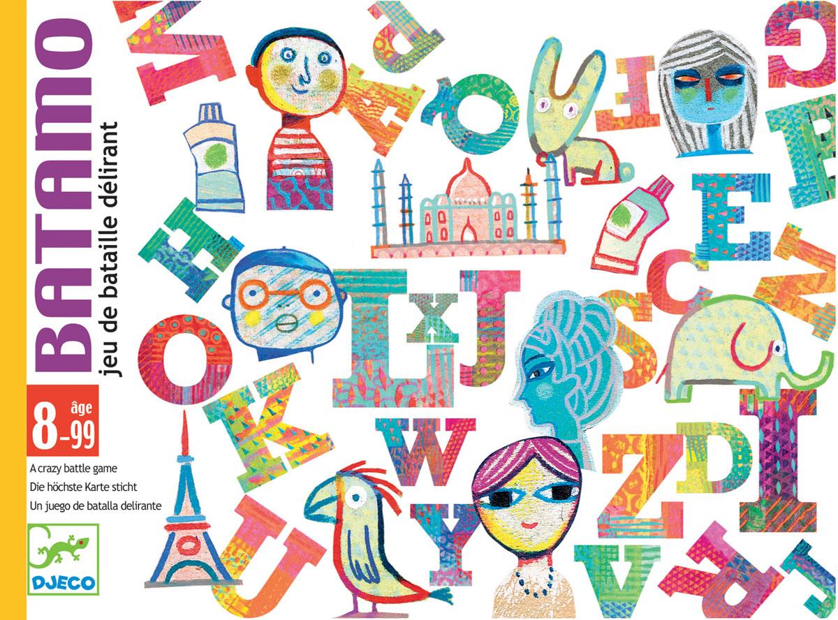 Djeco Настольная карточная игра Батамо05189Детская карточная игра Батамо от французского производителя Djeco - увлекательная игра для детей и взрослых на скорость и сообразительность. Игра Батамо прекрасно развивает быстроту реакции и наблюдательность ребенка, она станет прекрасным развлечением во время семейных вечером, а также подойдет для любого детского праздника. Правила игры Батамо: На старт, внимание, марш! Каждый игрок переворачивает карту. Участники пытаются обогнать друг друга, составляя слово, которое подходит по буквам и теме перевернутой карты. Веселый смех во время игры гарантирован! Выигрывает самый быстрый. Изображения на карточках очень красочные и необычные. Малышам обязательно понравится не только играть с ними, но и рассматривать красивые картинки. Игра продается в красочной яркой коробке, в которой можно хранить карточки. Игру удобно брать с собой в поездку или в гости. Количество игроков: 2-4 человека. Рекомендована для детей возрастом от 8 лет. Ориентировочное...