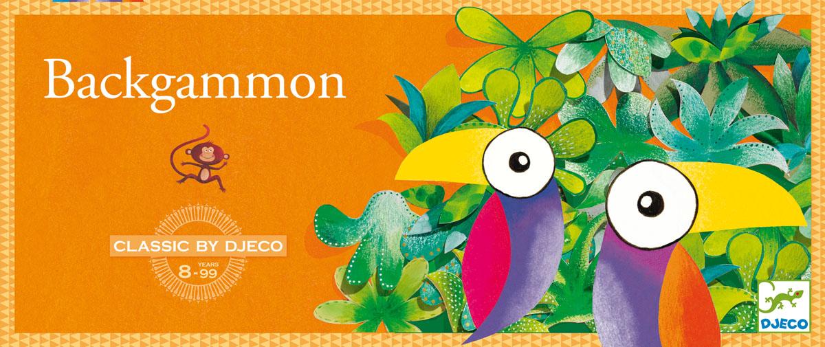 Djeco Настольная игра Нарды05205Настольная игра Нарды от Джеко – новый увлекательный вариант классической игры для детей в возрасте от 8-ми лет. В наборе: игровая доска, 10 коричневых обезьян, 10 бежевых обезьян - 2 игральных кубика. Цель игры состоит в том, чтобы вывести всех обезьян из джунглей.