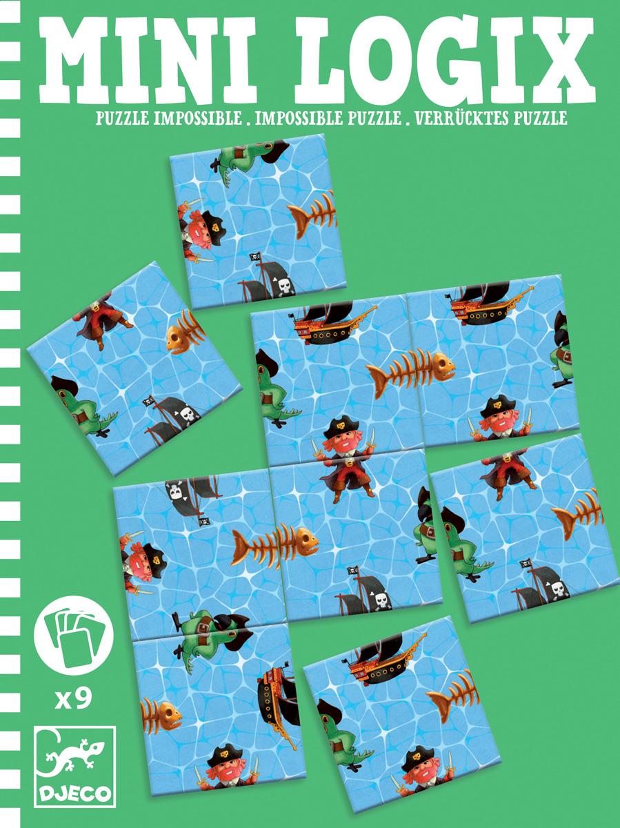 Djeco Пазл для малышей Пират 0536405364Пазл для малышей Djeco Пират - интересная детская игра в мини-формате, которую удобно взять с собой в путешествие или на дачу. В набор входят девять элементов пазла, которые необходимо расположить таким образом, чтобы получилась единая картинка. Увлекательная детская игра способствует развитию логики, усидчивости, концентрации внимания.