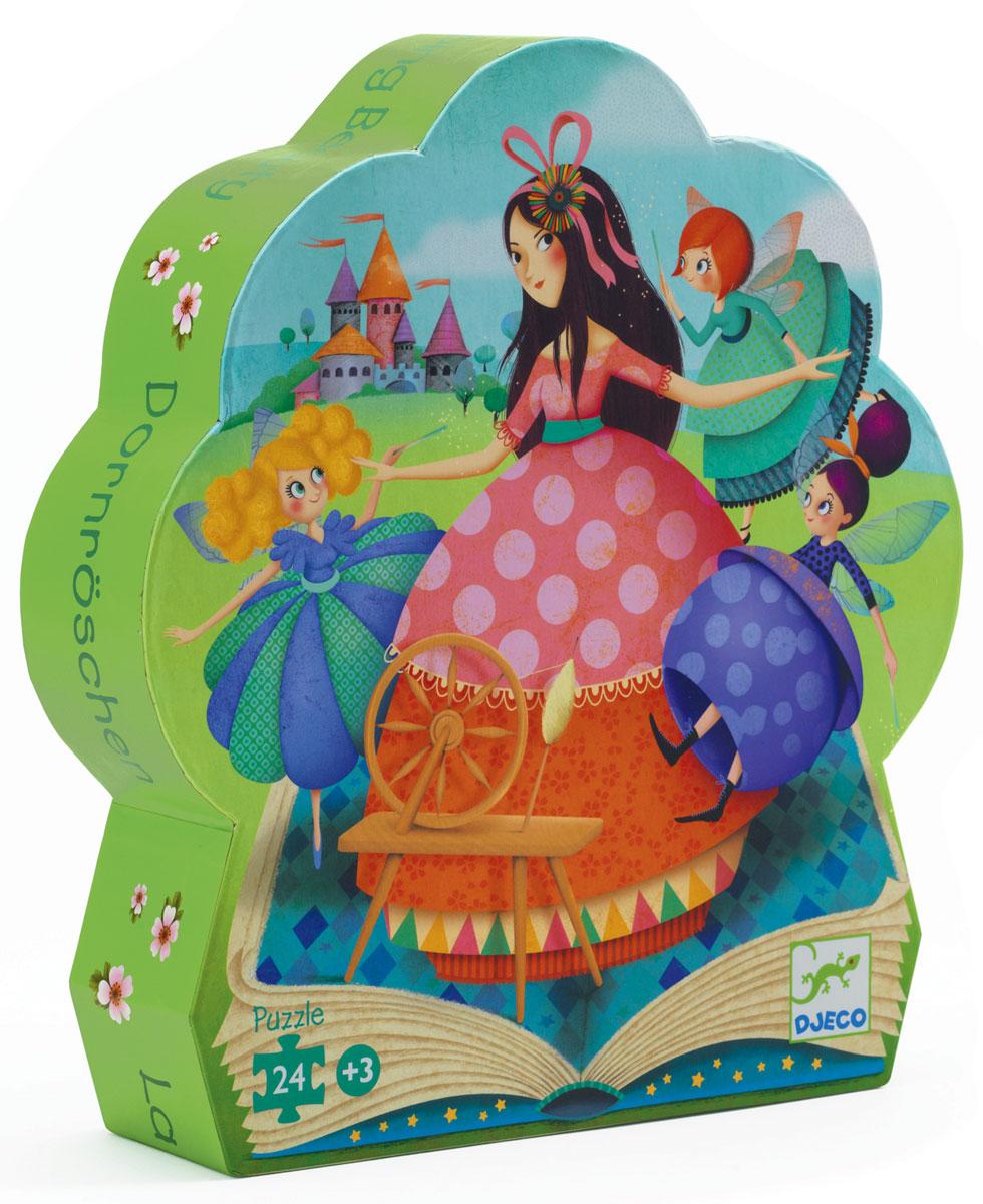 Djeco Пазл для малышей Спящая красавица07203Пазл Спящая красавица от Djeco – подарочный пазл набор, который понравится любой девочке. Необходимо собрать яркую полноценную картину из маленьких картонных деталей. Готовый пазл расскажет историю сказочных приключений прекрасной Спящей красавицы.
