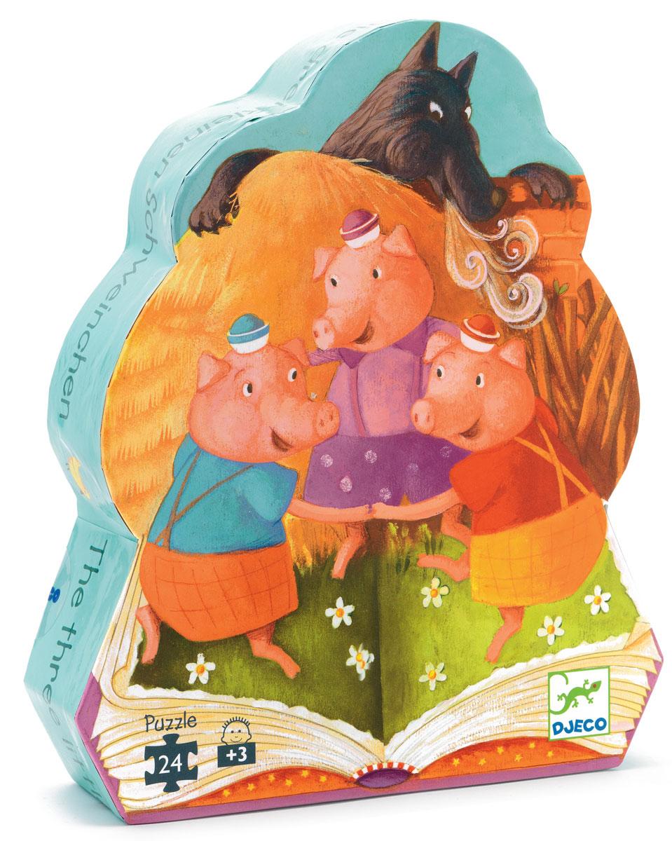 Djeco Пазл для малышей Три поросенка07212Пазл для малышей Djeco Три поросенка обязательно понравится вашему ребенку. Он с удовольствием будет не только играть, но и всесторонне развиваться. Игра научит ребенка усидчивости, аккуратности, научит логически рассуждать. Малыш узнает много интересного. Эта игра является развивающим занятием и интересной игрой! Пазл можно не только собирать, но и играть с ним. Эта игра научит вашего ребенка размышлять. Игра поможет сплотить всю семью в часы досуга, а дети узнают прекрасное множество цветовой гаммы.