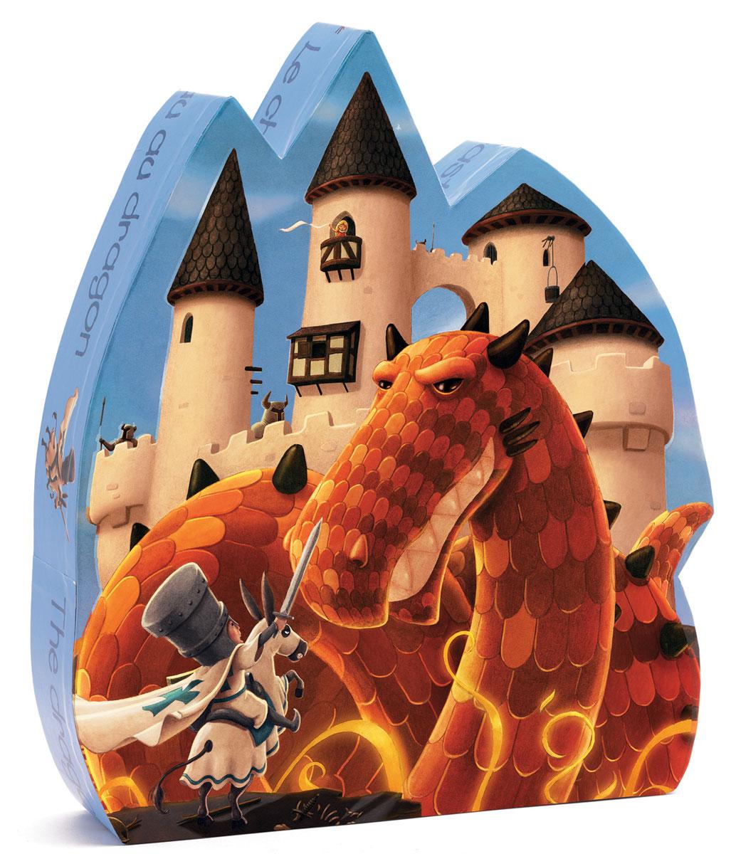 Djeco Пазл для малышей Замок дракона07250Пазл Замок дракона (07250) - замечательный пазл из 54 деталей в красочной коробке понравится как мальчикам, так и девочкам! Пазл с волшебным сюжетом, изображающим сказочного дракона и его прекрасный замок заинтересует любого малыша и он с удовольствием проведет время, собирая красивую картинку. Детали пазла имеют небольшой размер, удобный для маленьких детских ручек. Пазлы DJECO привлекают внимание своими яркими красками, красивыми рисунками и высоким качеством материала. Игра с пазлами способствует развитию сенсомоторной координации и мелкой моторики рук, логике, воображению и памяти, приучает к усидчивости и аккуратности.