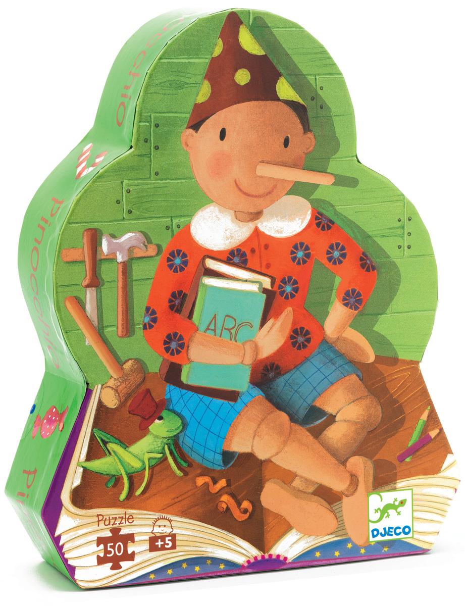 Djeco Пазл для малышей Пиноккио07251Пазл Пиноккио (07251) - великолепный пазл из 54 деталей в красивой фигурной коробке позволит Вашему малышу погрузиться в мир любимой сказки в новом качестве! Складывание пазла по мотивам известной сказки про приключения Пиноккио - станет по-настоящему интересным и увлекательным занятием для любого ребенка. Детали пазла изготовлены из высококачественного трехслойного картона, они не деформируются и удобны для маленьких детских ручек. Пазлы DJECO привлекают внимание своими яркими красками, красивыми рисунками и высоким качеством материала. Игра с пазлами способствует развитию сенсомоторной координации и мелкой моторики рук, логике, воображению и памяти, приучает к усидчивости и аккуратности.